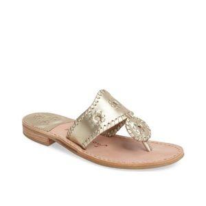 Jack Rogers Platinum Whipstitched Classic Sandal 9